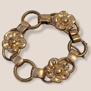 Vintage Napier Sterling Silver Rose Gold Bracelet